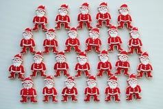 Печенья меда Санта Клауса на белой предпосылке стоковое изображение