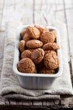 Печенья миндалины меренги в шаре Стоковые Фото