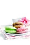 3 печенья миндалины (macaroons) Стоковое Фото