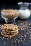 Печенья муки гречихи с шоколадом Стоковое Фото