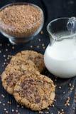 Печенья муки гречихи с шоколадом Стоковые Изображения RF