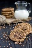 Печенья муки гречихи с шоколадом Стоковые Фотографии RF
