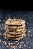 Печенья муки гречихи с шоколадом Стоковое Изображение