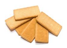 Печенья на белизне Стоковое Изображение
