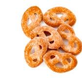 Печенья на белой предпосылке Взгляд сверху Стоковое Фото