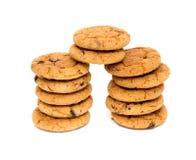 Печенья на белой предпосылке Стоковое Изображение RF