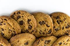 Печенья на белой предпосылке стоковые фотографии rf