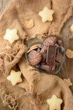 Печенья на день ` s валентинки стоковое фото