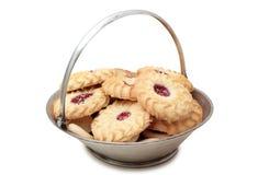 Печенья на диске Стоковые Фото