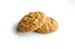 Печенья на хлопьях изолированных на белой предпосылке Стоковое Фото