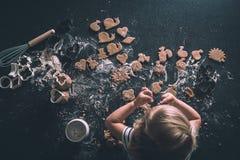 Печенья на worktop Стоковые Фото