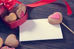 Печенья дня валентинки Стоковая Фотография RF