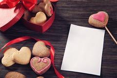 Печенья дня валентинки Стоковое Изображение RF