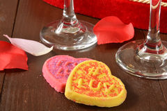 Печенья дня валентинок Стоковое Фото