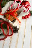 Печенья обломока шоколада и тросточки конфеты Стоковые Фото