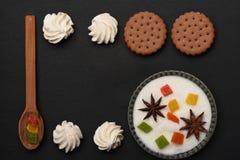 Печенья обломока шоколада с зефиром Стоковая Фотография RF