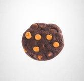 Печенья обломоков печений или шоколада на предпосылке Стоковые Фото