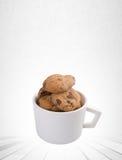 Печенья обломоков печений или шоколада на предпосылке Стоковое фото RF
