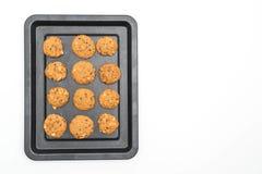 печенья обломоков шоколада и гайки анакардии Стоковые Изображения RF