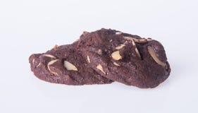 Печенья обломоков шоколада миндалин на предпосылке Стоковые Фото