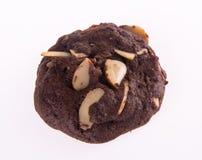 Печенья обломоков шоколада миндалин на предпосылке Стоковые Фотографии RF
