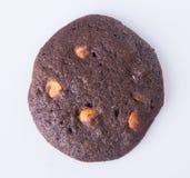 Печенья обломоков шоколада на предпосылке Стоковое фото RF