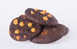 Печенья обломоков шоколада на предпосылке Стоковая Фотография RF