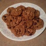 Печенья обломока и арахиса шоколада Стоковая Фотография