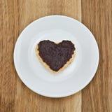Печенья обломока шоколада в форме сердца Стоковое Изображение RF