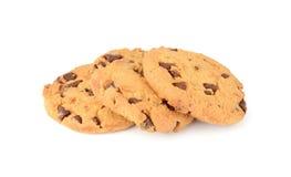 Печенья обломока шоколада изолированные на белой предпосылке стоковая фотография rf
