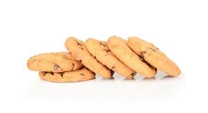 Печенья обломока шоколада изолированные на белой предпосылке Стоковое Изображение