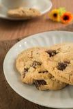 Печенья обломока шоколада на плите стоковое фото
