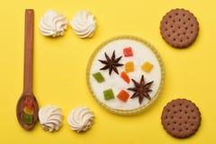 Печенья обломока шоколада с зефиром Стоковые Фотографии RF