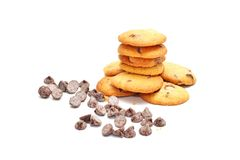 Печенья обломока шоколада Стоковое Изображение RF