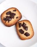 2 печенья обломока Chokolate Стоковые Изображения RF