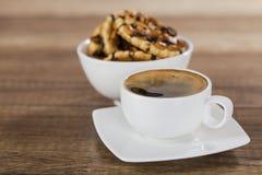 Печенья обломоков кофе и шоколада Стоковое Изображение