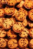 Печенья обломоков шоколада, конец вверх Съемка печений обломока шоколада Стоковое Изображение RF