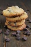 Печенья с обломоками шоколада Стоковые Фото