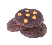 Печенья обломоков шоколада на предпосылке Стоковое Изображение