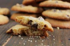Печенья обломоков шоколада Стоковые Изображения