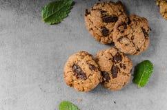 Печенья обломоков шоколада Стоковые Фото