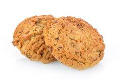 Печенья овсяной каши на белой предпосылке Стоковое Изображение
