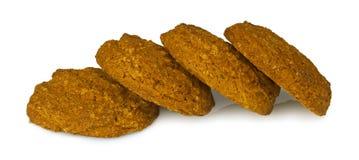 Печенья овсяной каши на белой предпосылке стоковая фотография rf