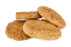 Печенья овсяной каши на белизне. Стоковая Фотография