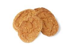 Печенья овсяной каши на белизне. Стоковые Изображения RF