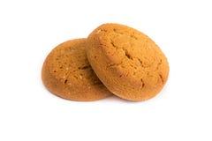 Печенья овсяной каши на белизне Стоковые Фотографии RF