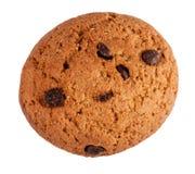 Печенья овсяной каши при шоколад изолированный на белой предпосылке Стоковая Фотография RF