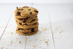 Печенья овсяной каши с изюминками Стоковое Изображение RF