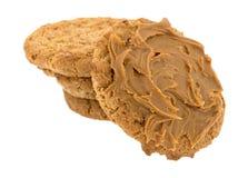Печенья овсяной каши с отбензиниванием на белой предпосылке Стоковое Изображение RF