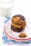 Печенья овсяной каши с шоколадом Стоковое фото RF
